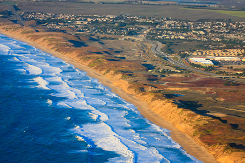 View of Fort Ord Dunes by air