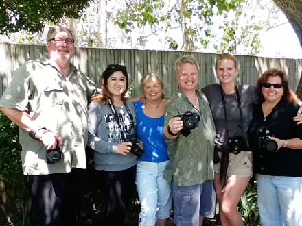 Wine Photo Workshop Participants smiling