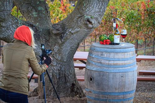 Wine Photo Workshop example of stil life exercise.