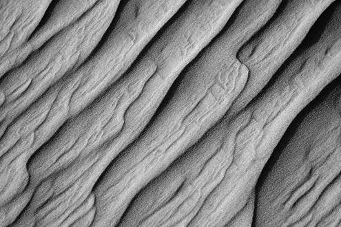 Ripples across a sand dune.