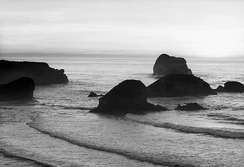 The layers of surf looked like steps leading to a grand expanse.