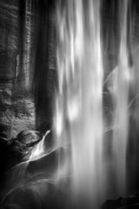 Layers of cascading water with surreal lighting.