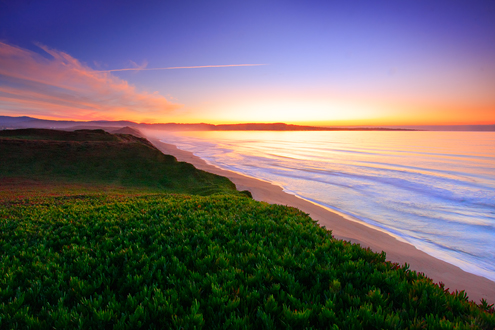 Fort Ord Dunes Workshop example of colorful sunset.