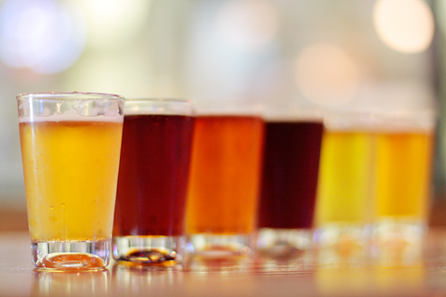 Spectrum Of Beer Colors San Diego County California