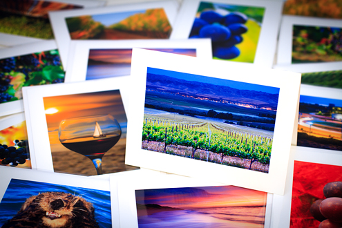 Collection of colorful note cards