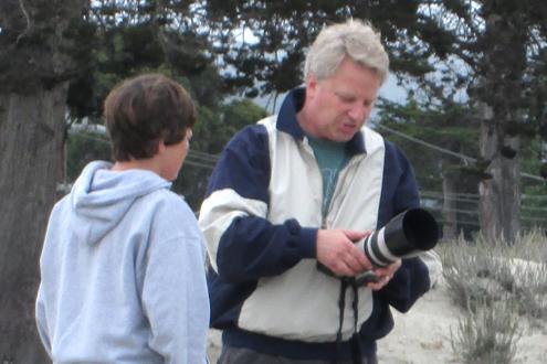 Lyceum Photo Camp instructor Steve Zmak instructing a student