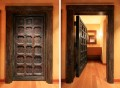 Side-by-side photos of the same door open and closed.