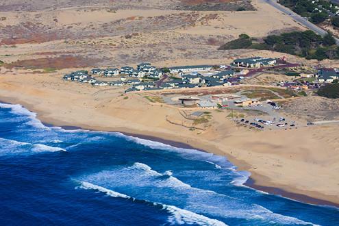 Marina Dunes Preserve Aerial State Beach California