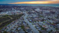 Twilight over the City of Marina and Monterey Bay with the Monterey Peninsula in the background.